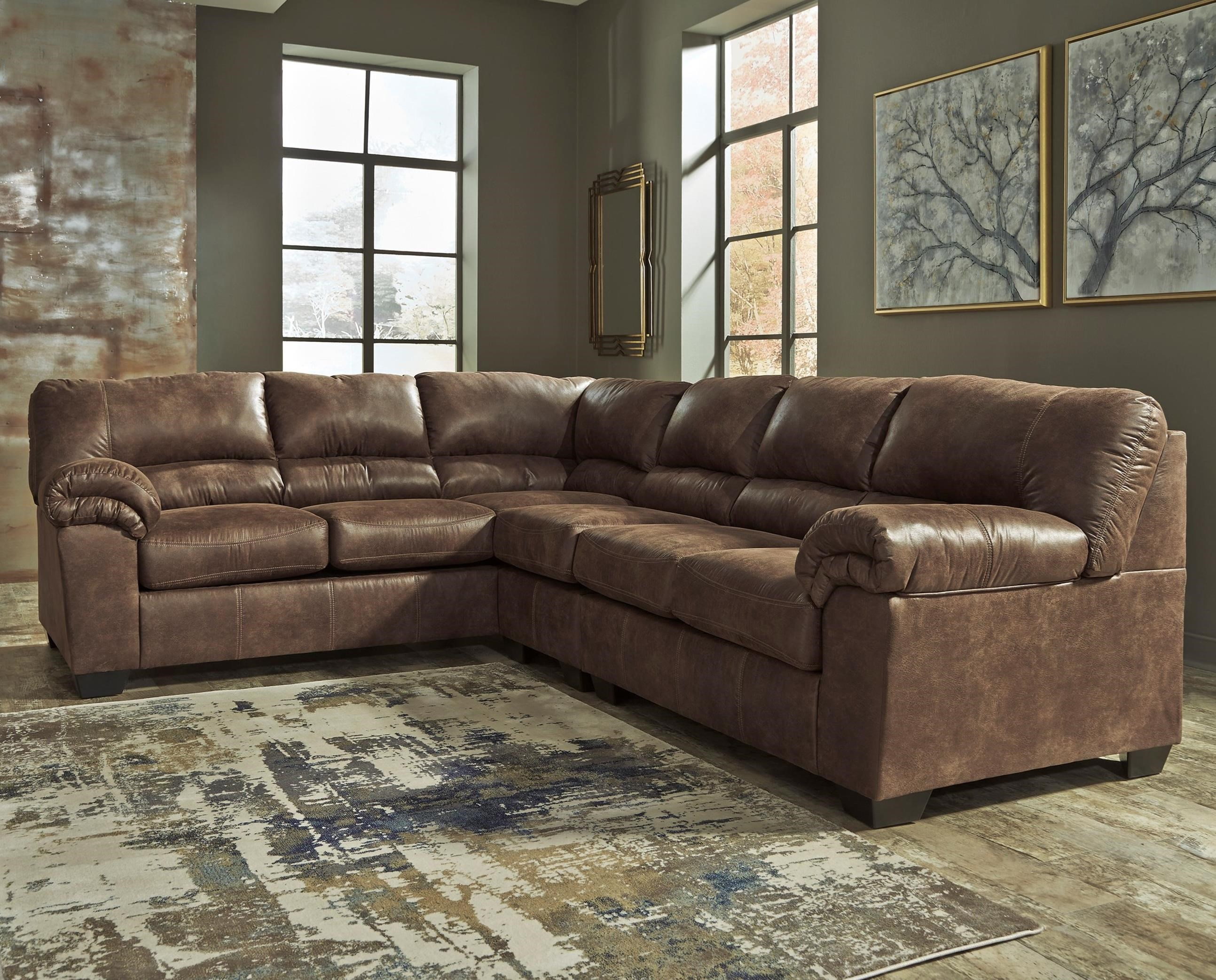 Signature Design by Ashley Bladen 3-Piece Sectional - Item Number 1200066+46 : leather sectional ashley - Sectionals, Sofas & Couches
