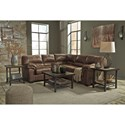 Signature Design by Ashley Bladen Two-Piece Faux Leather Sectional