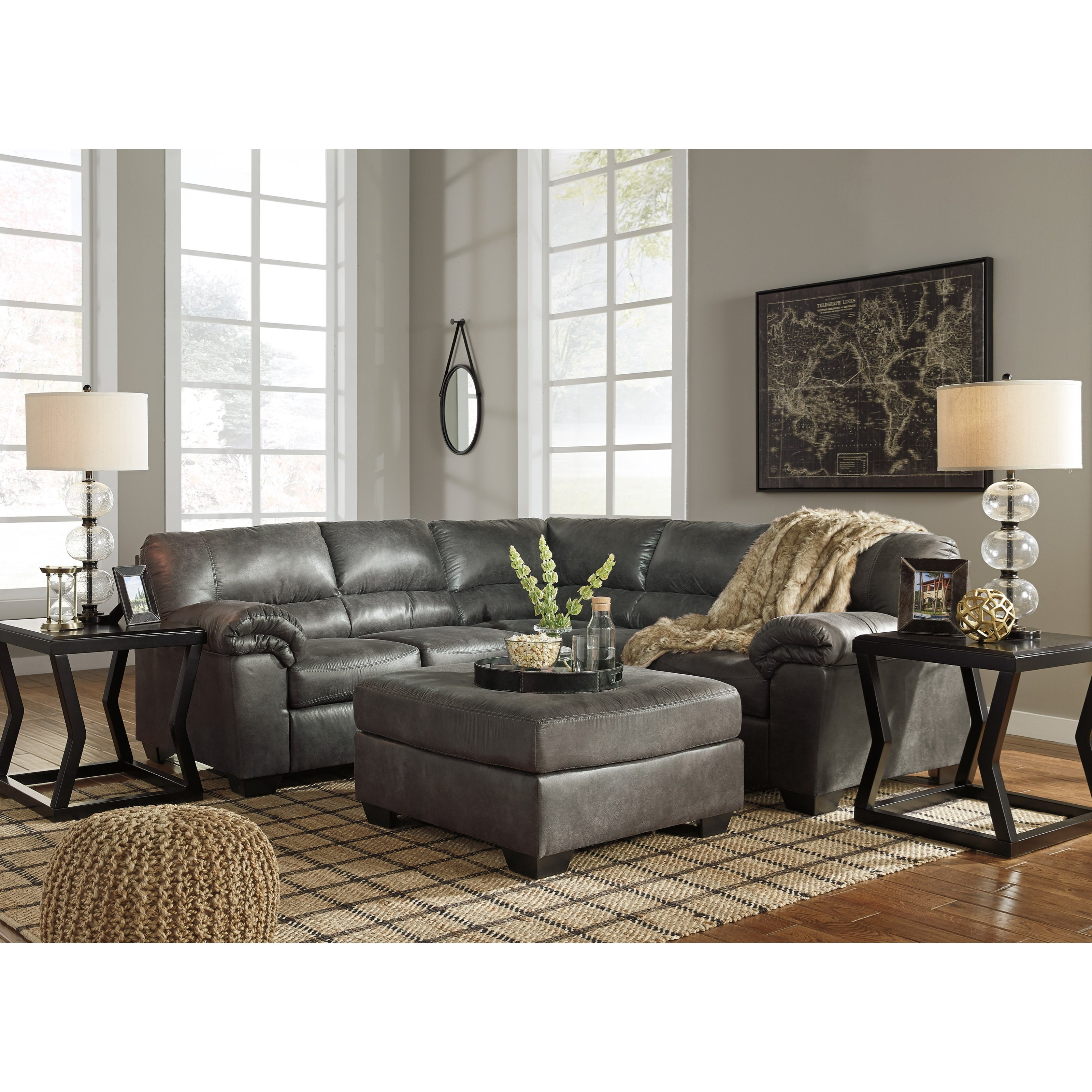 Signature Design By Ashley Bladen 2-Piece Faux Leather