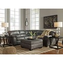 Signature Design by Ashley Bladen 2-Piece Faux Leather Sectional