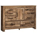 Signature Design by Ashley Blaneville Rustic Style Dresser with Door