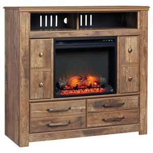 Signature Design by Ashley Blaneville Media Chest with Fireplace Insert