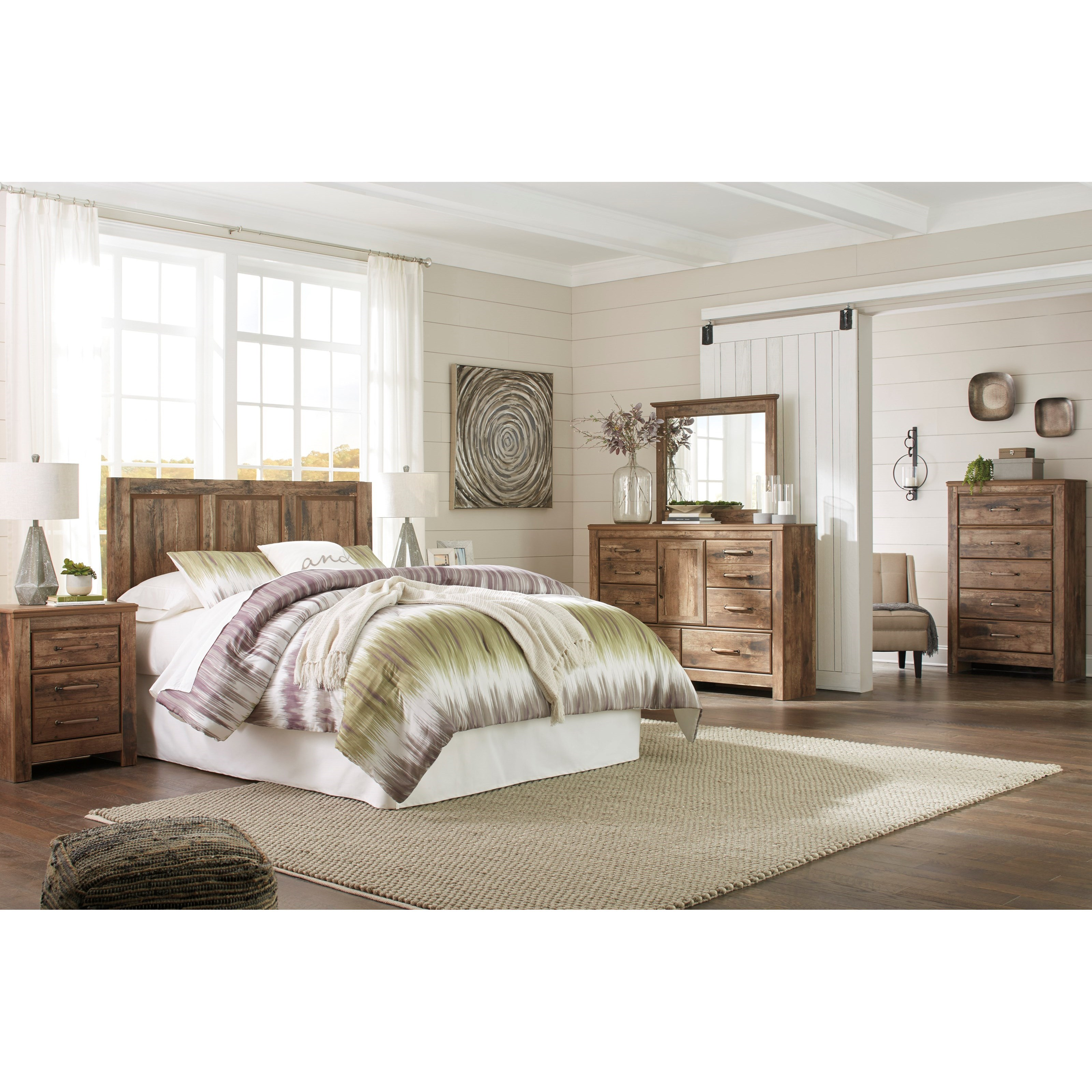 Del Sol As Blaneville B224 57 Rustic Style Queen Full