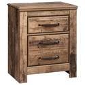 Signature Design by Ashley Blaneville Two Drawer Night Stand - Item Number: B224-92