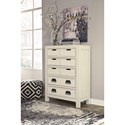 Signature Design by Ashley Blinton 5 Drawer Chest with Panel Detail