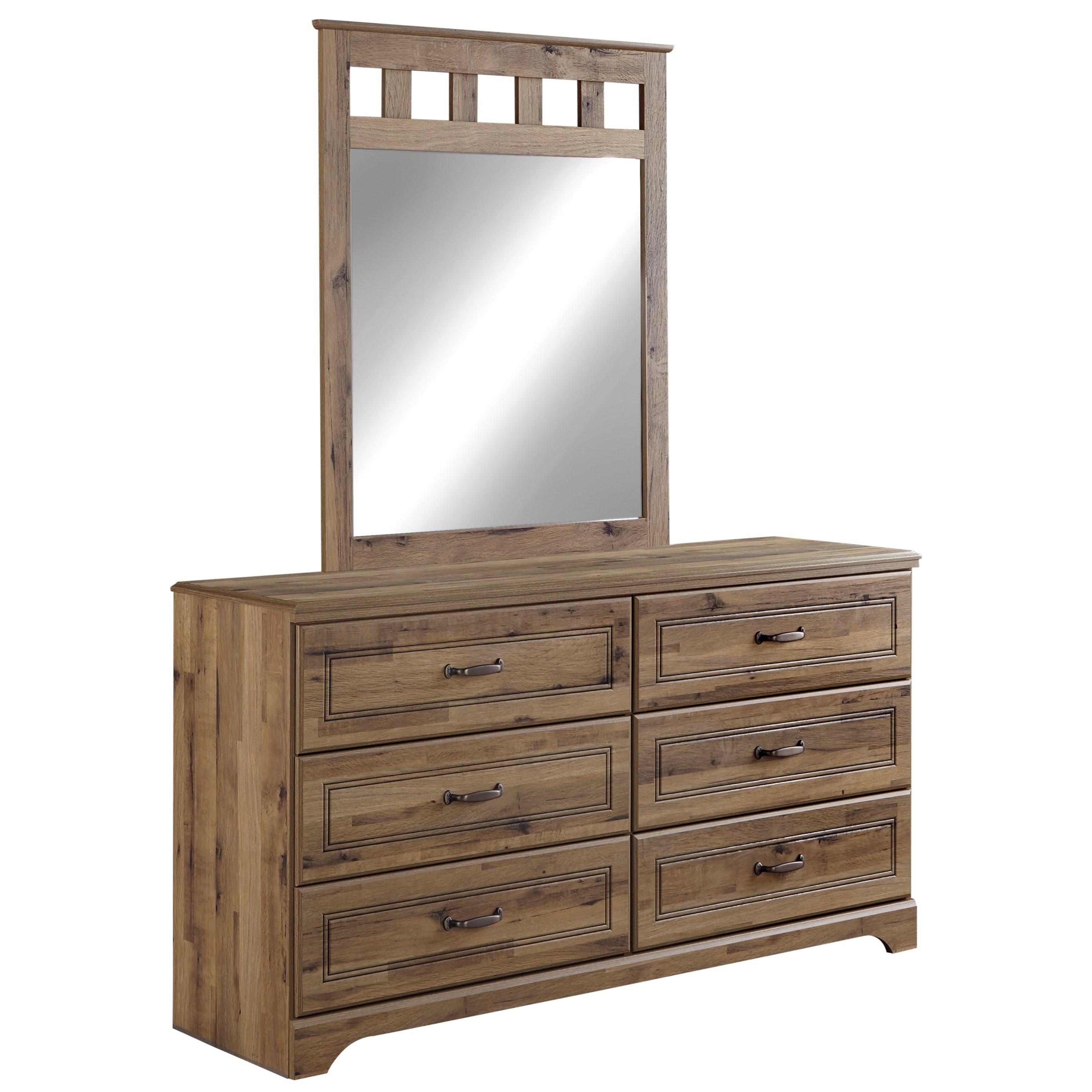 Signature Design by Ashley Brobern Dresser & Bedroom Mirror - Item Number: B173-21+26