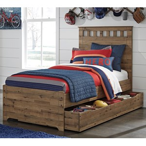 Signature Design by Ashley Brobern Twin Panel Bed w/ Under Bed Storage/Trundle
