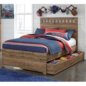 Signature Design by Ashley Brobern Full Panel Bed w/ Under Bed Storage/Trundle