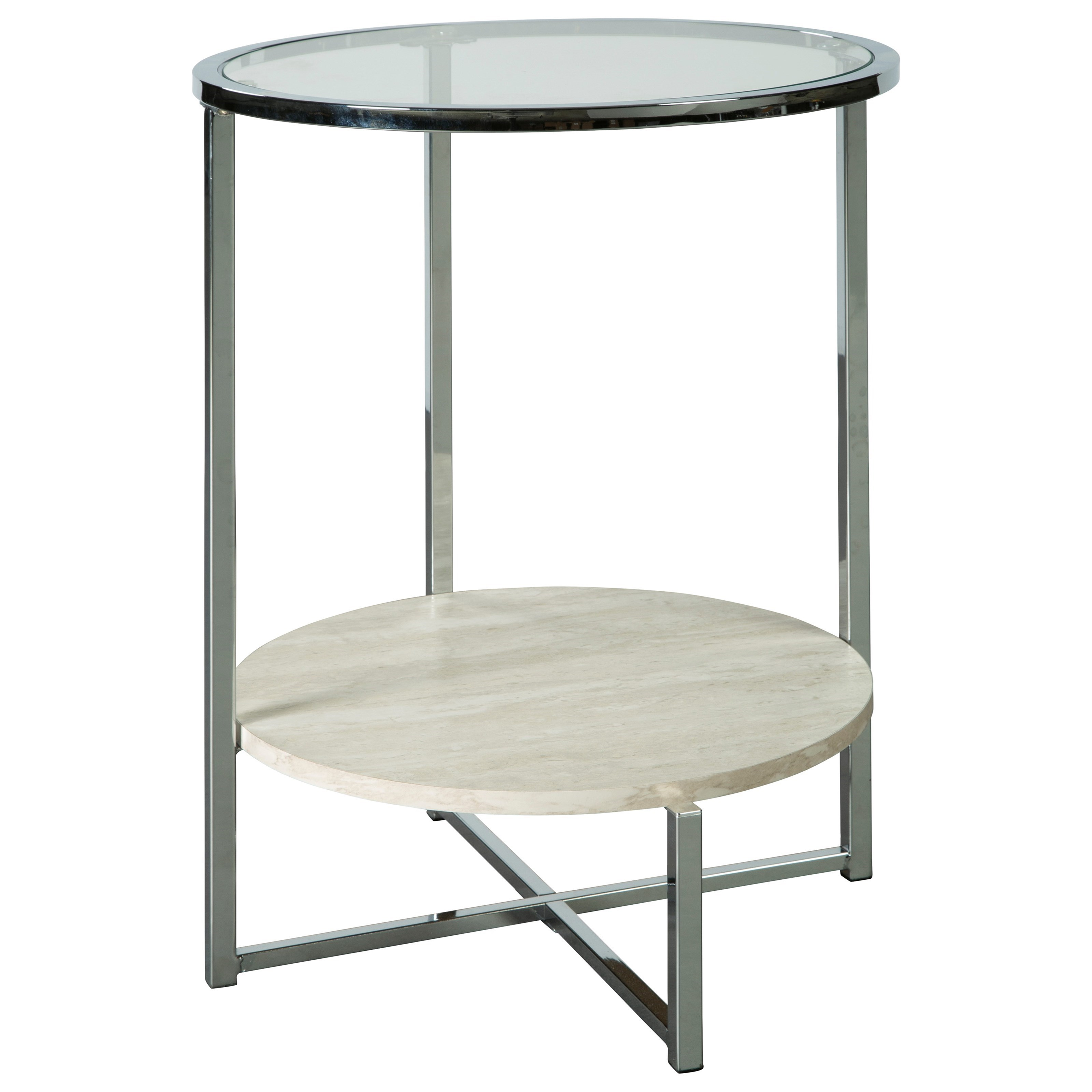 Bodalli Round End Table by Signature Design by Ashley at Zak's Warehouse Clearance Center
