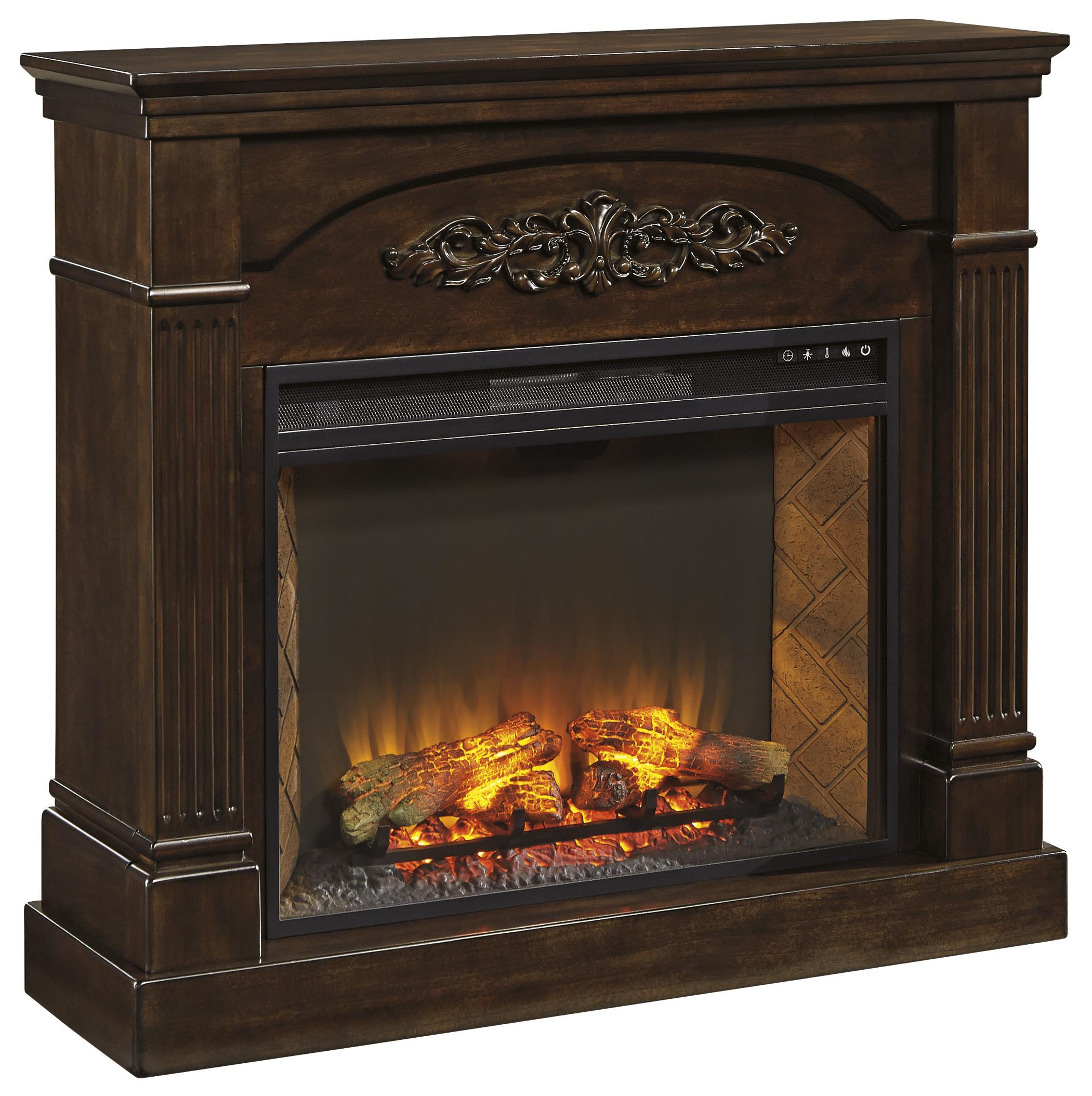 Signature Design by Ashley Boddew Fireplace Mantel - Item Number: W600-120