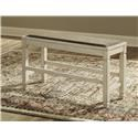 Signature Design by Ashley Bolanburg Upholstered Dining Room Bench - Item Number: 435464704