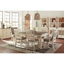 Signature Design by Ashley Bolanburg Formal Dining Room Group - Item Number: D647 Dining Room Group 18