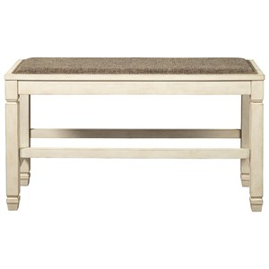 Double Counter Upholstered Bench