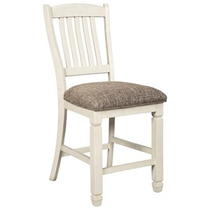 Ashley Signature Design Bolanburg Upholstered Bar Stool