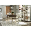 Signature Design by Ashley Bolanburg Square/Round Drop Leaf Counter Table with Shelf