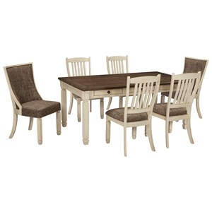 Signature Design by Ashley Bolanburg 7 Piece Table and Chair Set