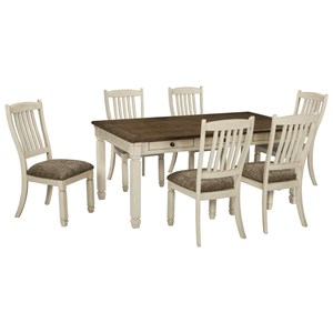 Ashley Signature Design Bolanburg 7 Piece Table and Chair Set