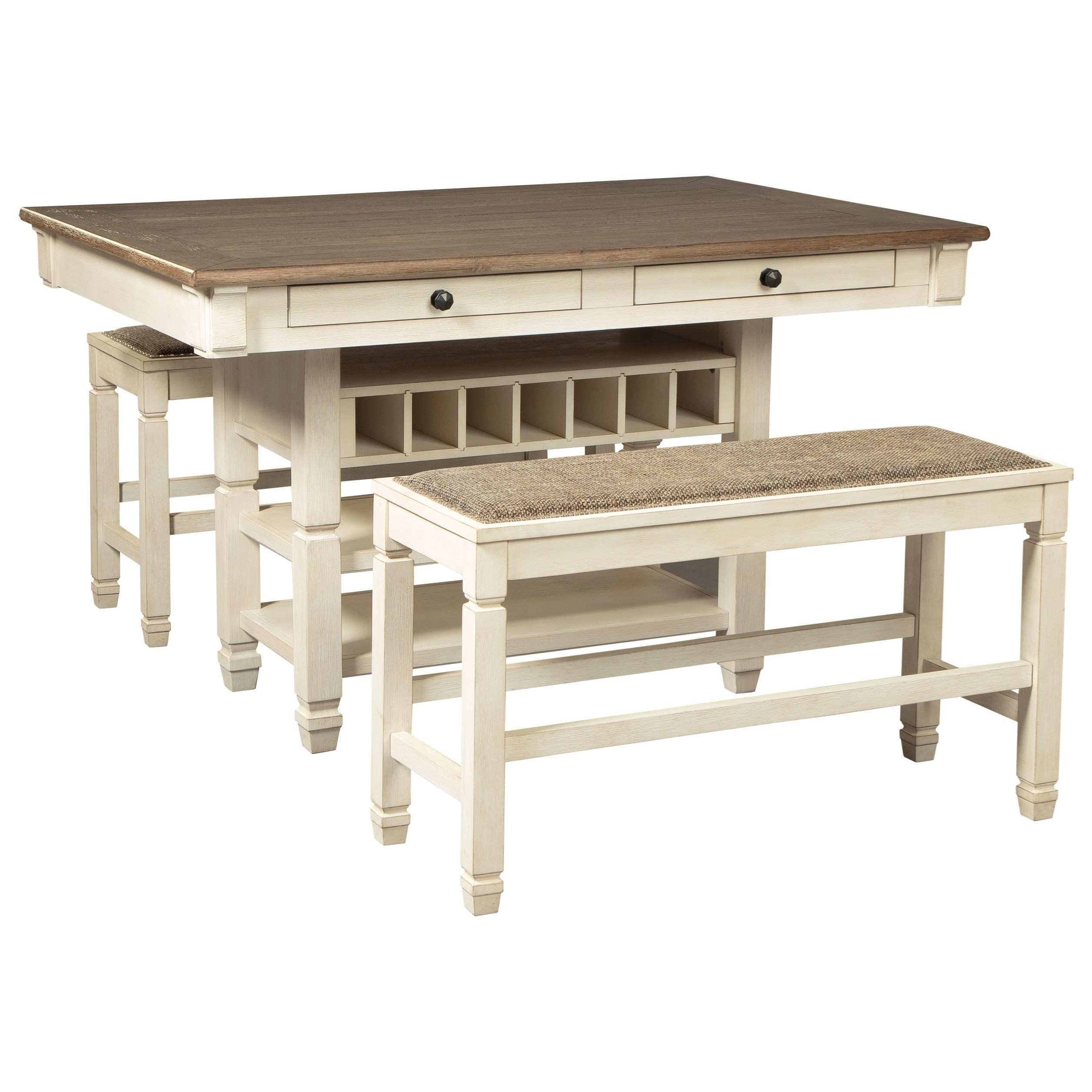 Bolanburg 3-Piece Counter Table and Bench Set by Signature Design by Ashley at Northeast Factory Direct