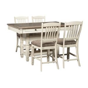 Signature Design by Ashley Bolanburg 5-Piece Counter Height Table Set