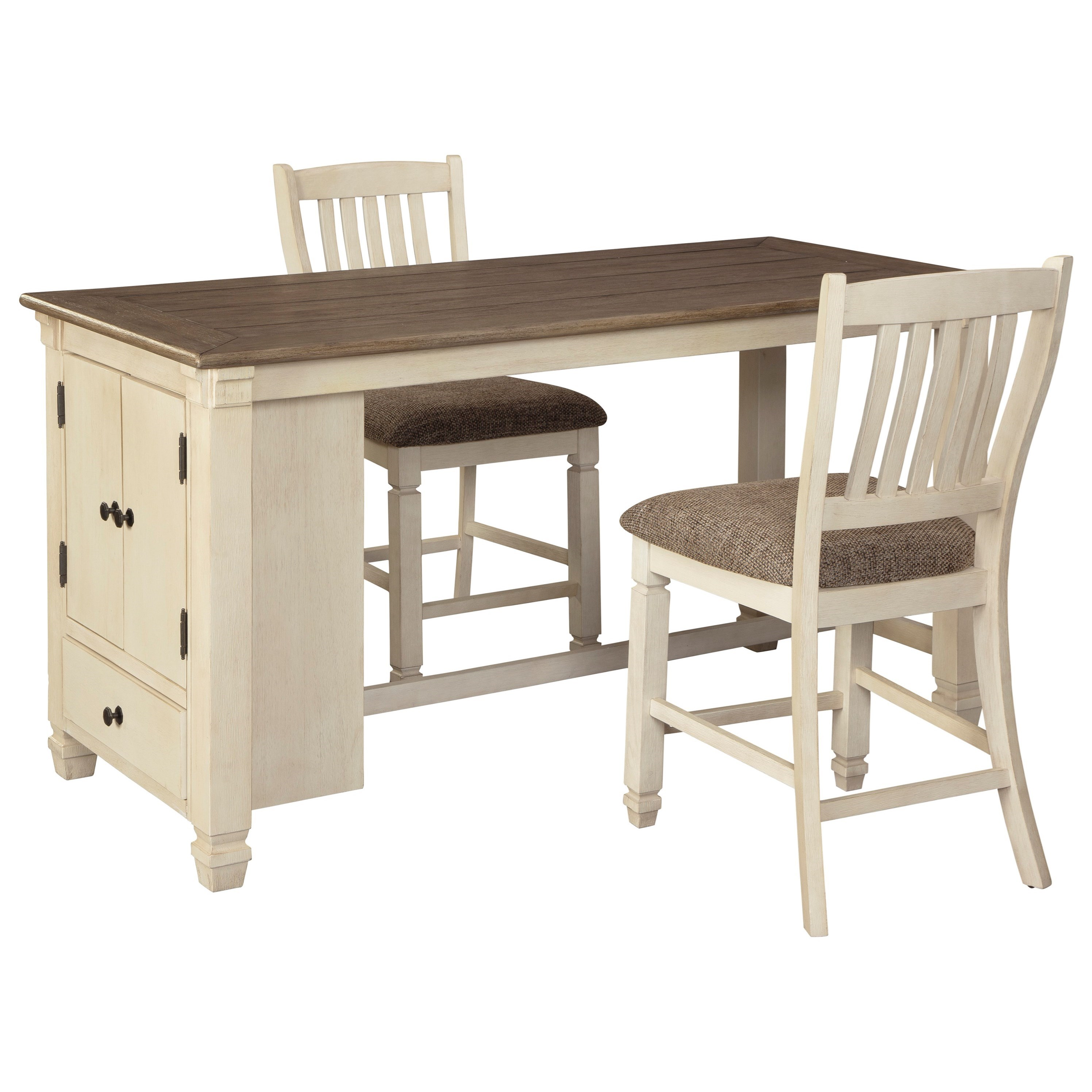 Bolanburg 3-Piece Rect. Dining Room Counter Table Set by Signature Design by Ashley at Zak's Warehouse Clearance Center