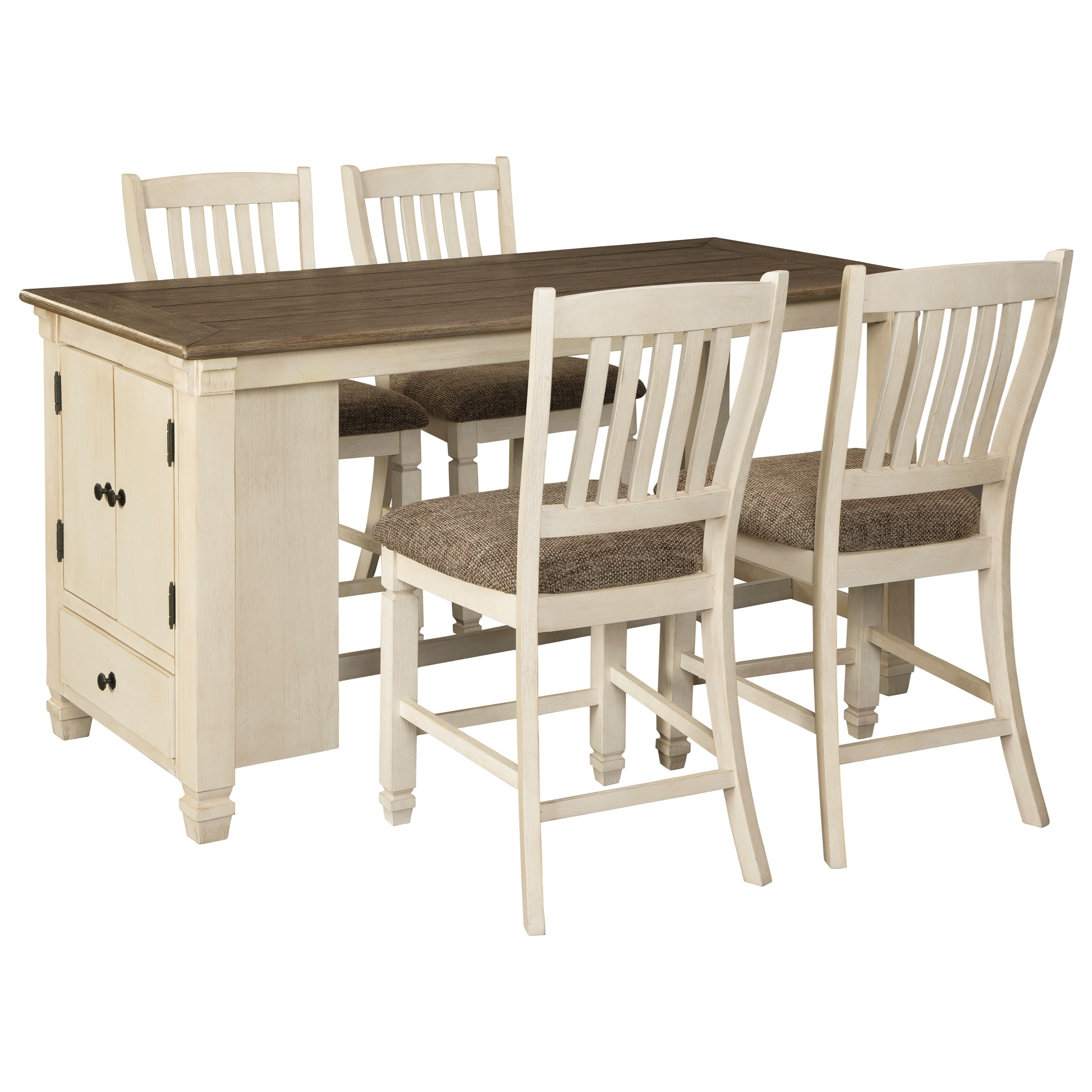 Bolanburg 5-Piece Rect. Dining Room Counter Table Set by Signature Design by Ashley at Northeast Factory Direct