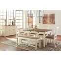 Signature Design by Ashley Bolanburg Relaxed Vintage Dining Room Server with Concealed Storage