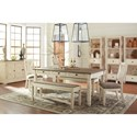 Signature Design by Ashley Bolanburg Relaxed Vintage Display Cabinet with Drawers