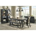 Signature Design by Ashley Tyler Creek Formal Dining Room Group - Item Number: D736 Dining Room Group 10