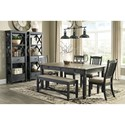 Signature Design by Ashley Tyler Creek Casual Dining Room Group - Item Number: D736 Dining Room Group 11