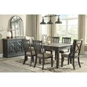 Ashley (Signature Design) Tyler Creek Formal Dining Room Group - Item Number: D736 Dining Room Group 12