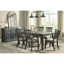Signature Design by Ashley Tyler Creek Formal Dining Room Group - Item Number: D736 Dining Room Group 14