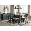 Ashley (Signature Design) Tyler Creek Casual Dining Room Group - Item Number: D736 Dining Room Group 6