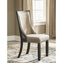 Signature Design by Ashley Tyler Creek Relaxed Vintage Upholstered Side Chair with Back Motif