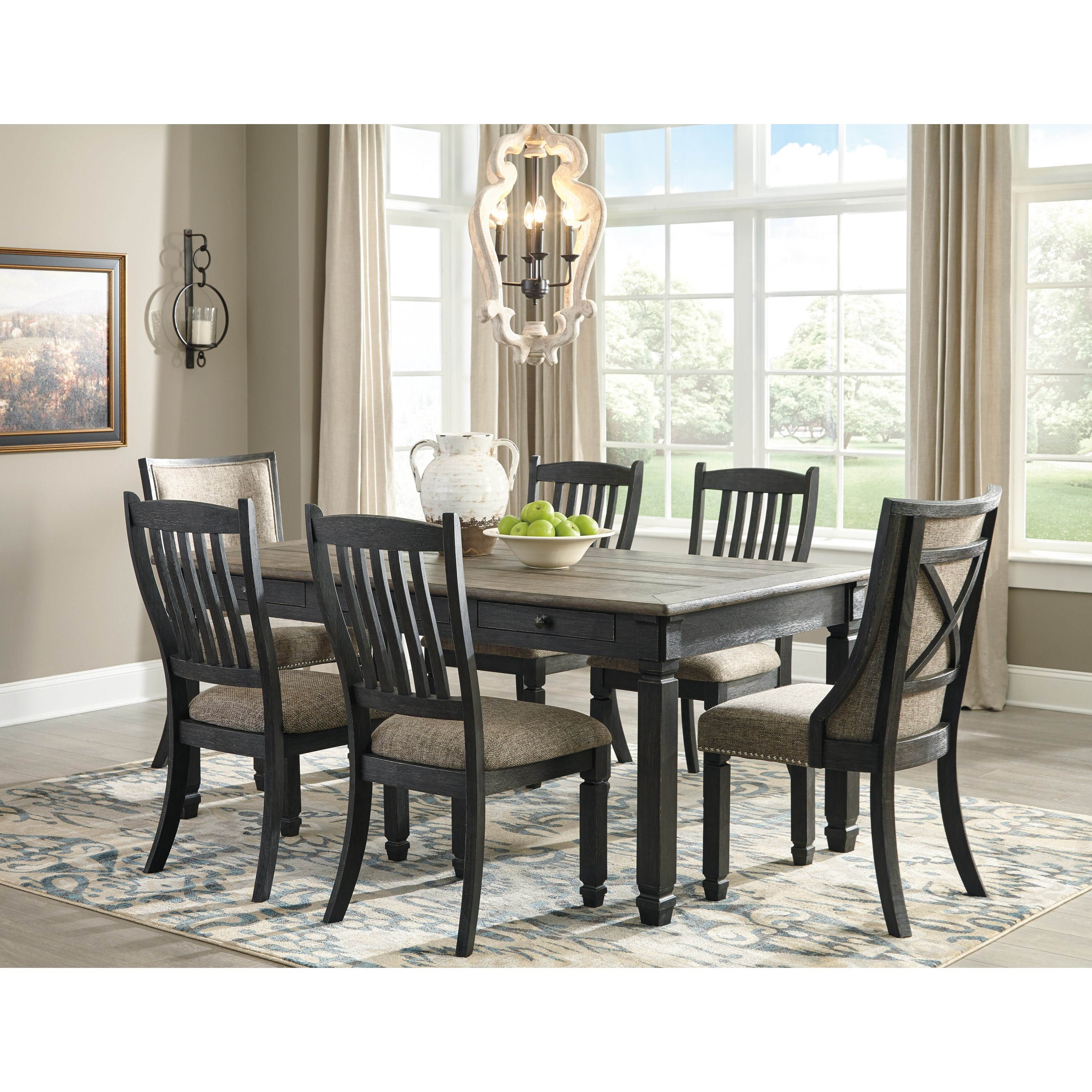 Ashley Signature Design Tyler Creek Relaxed Vintage 7 Piece Table And Chair Set Dunk Bright