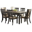 Signature Design by Ashley Tyler Creek 7-Piece Table and Chair Set - Item Number: D736-25+2x02+4x01