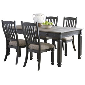 Signature Design by Ashley Tyler Creek 5 Piece Table and Chair Set