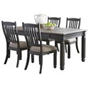 Signature Design by Ashley Tyler Creek 5-Piece Table and Chair Set - Item Number: D736-25+4x01
