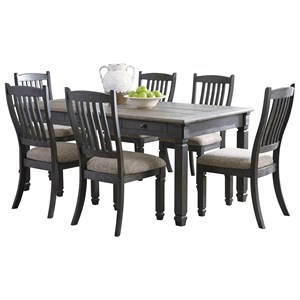 Signature Design by Ashley Tyler Creek 7 Piece Table and Chair Set