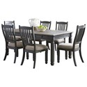 Signature Design by Ashley Tyler Creek 7-Piece Table and Chair Set - Item Number: D736-25+6x01