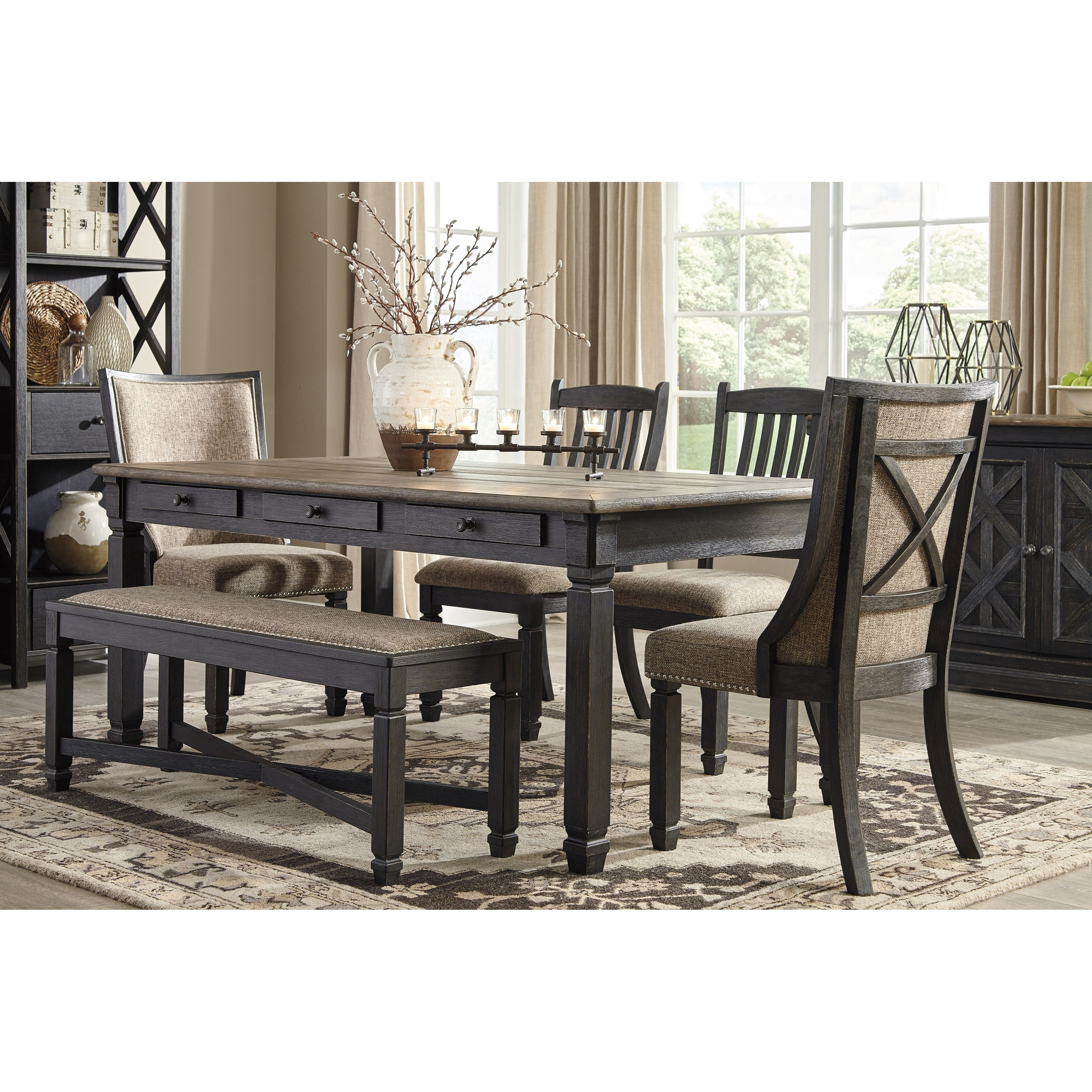 Tyler Creek Relaxed Vintage Rectangular Dining Room Table