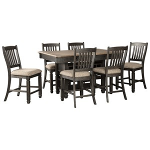 Signature Design by Ashley Tyler Creek 7 Piece Counter Table and Stool Set