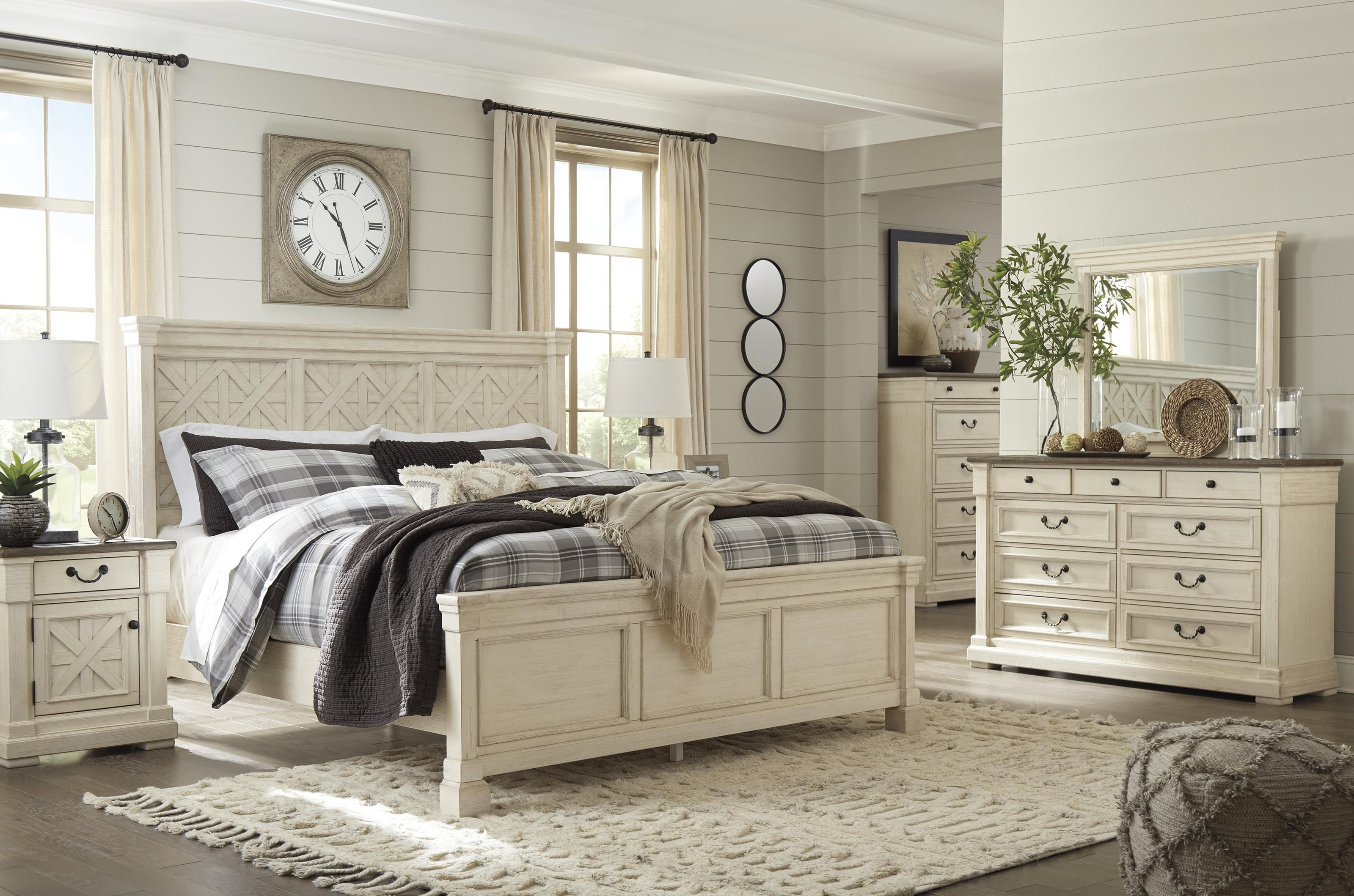 King Panel Bed Package