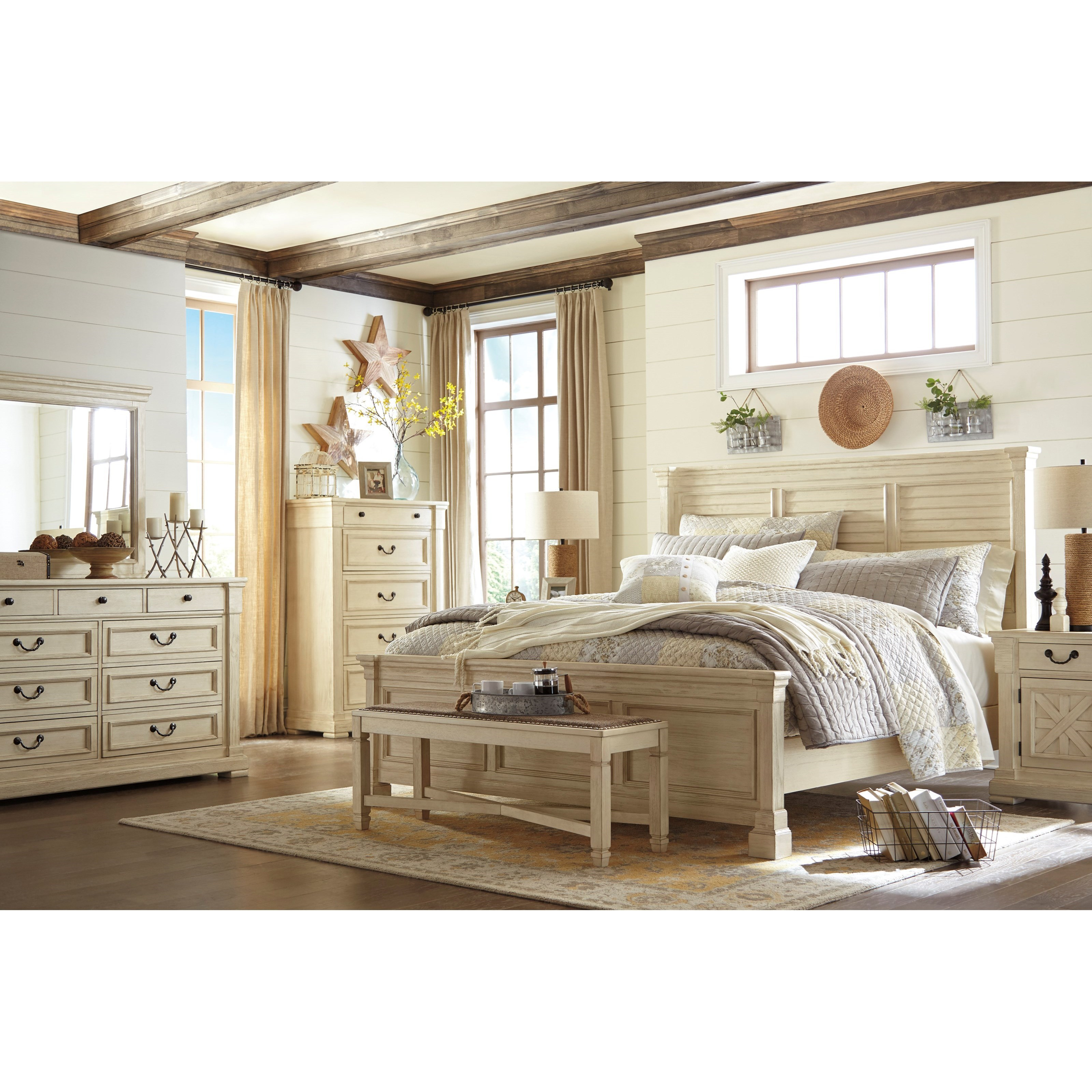 Signature Design by Ashley Bolanburg California King Bedroom Group - Item Number: B647 CK Bedroom Group 4