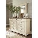 Signature Design by Ashley Bolanburg Two-Tone Dresser & Bedroom Mirror