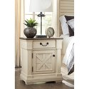 Signature Design by Ashley Bolanburg One Drawer Night Stand with Built-In Outlets & USB Chargers