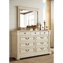 Signature Design by Ashley Bolanburg Dresser & Bedroom Mirror