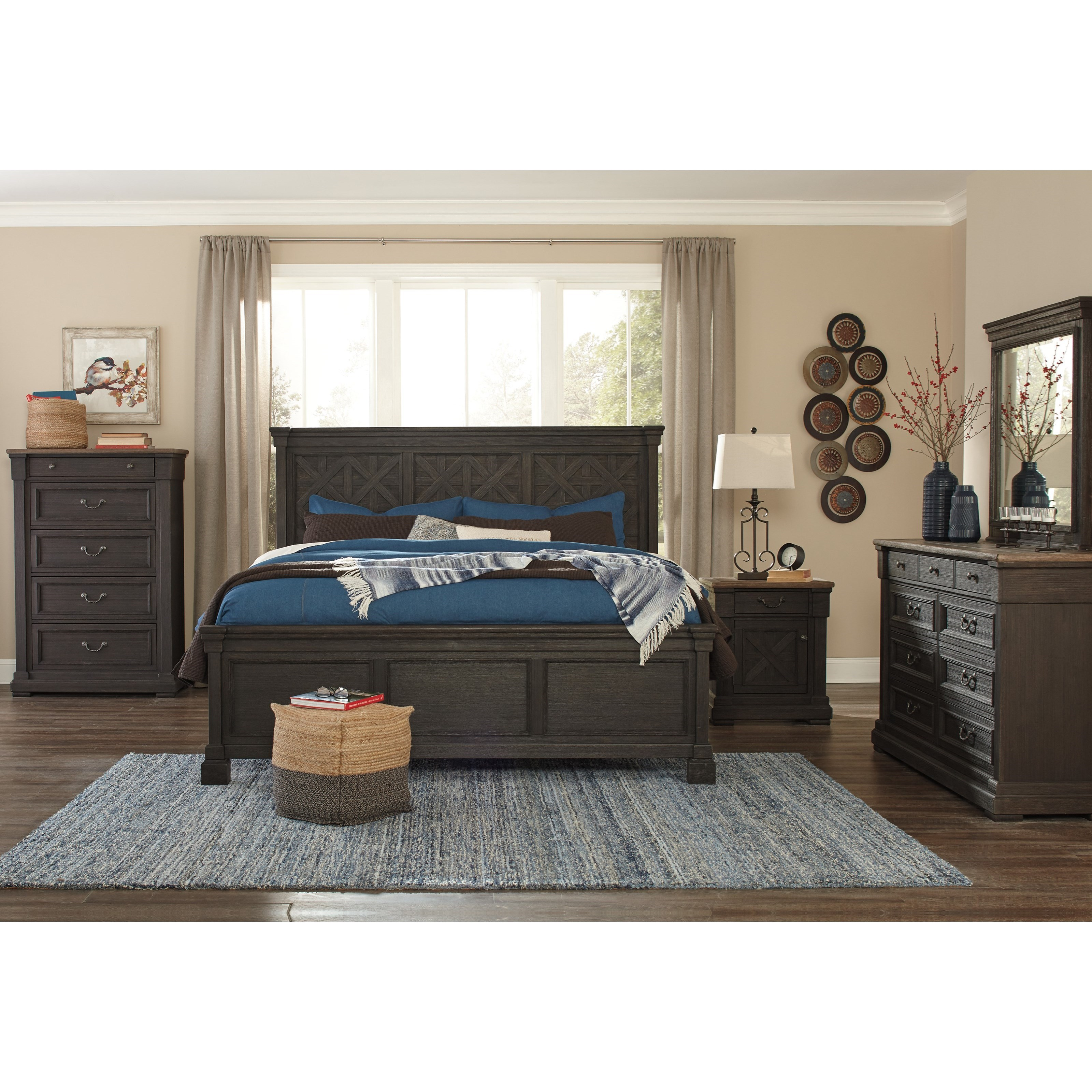 Signature Design By Ashley Tyler Creek Queen Bedroom Group Miskelly Furniture Bedroom Groups