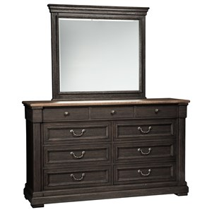 Signature Design by Ashley Tyler Creek Dresser & Bedroom Mirror