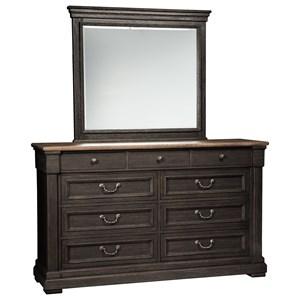 Signature Design by Ashley Tyler Creek Dresser & Bedroom Mirror