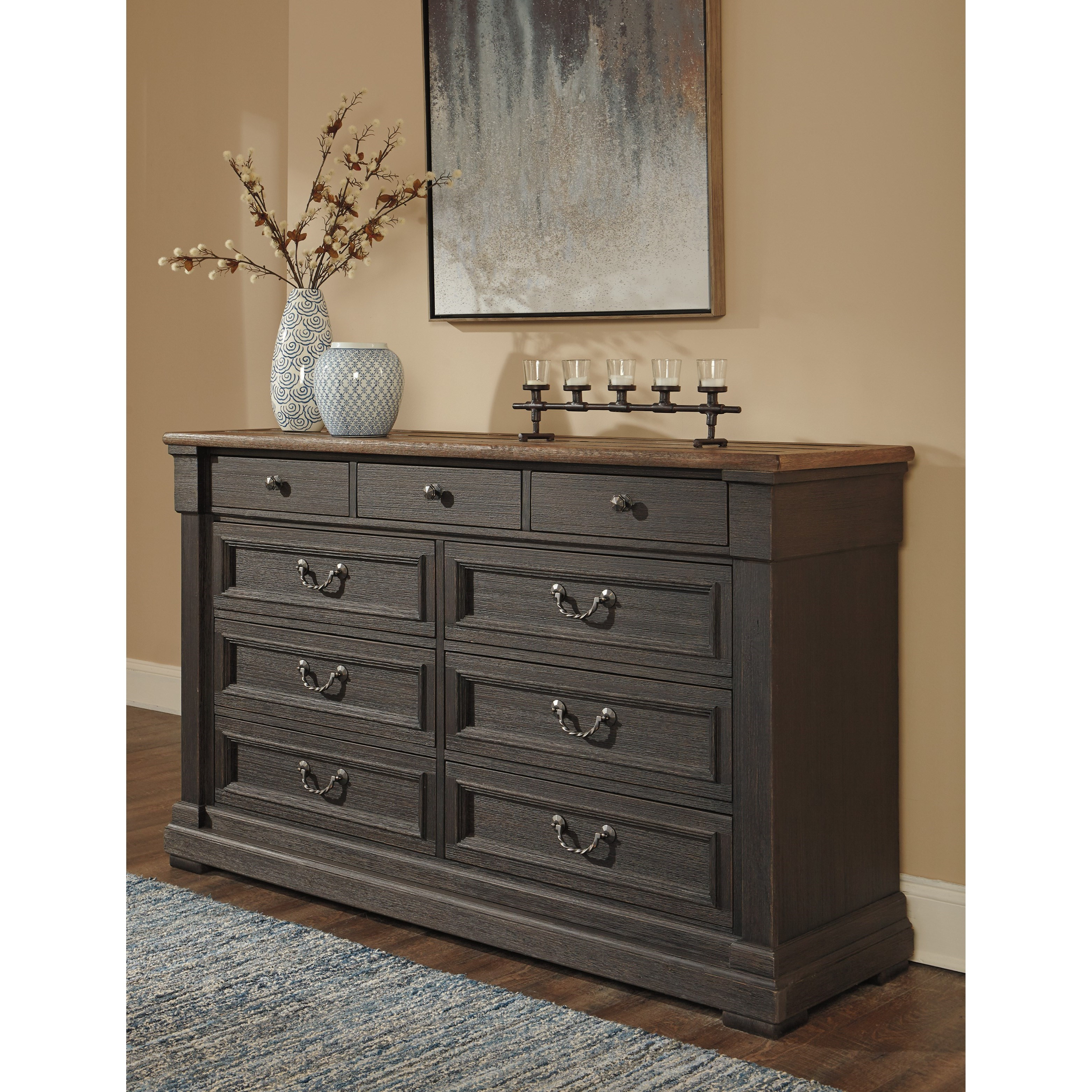 Signature Design By Ashley Tyler Creek Relaxed Vintage Two Tone Dresser Miskelly Furniture